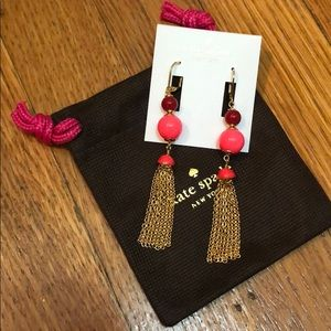"""Kate Spade """"That's a Wrap"""" tassel earrings"""